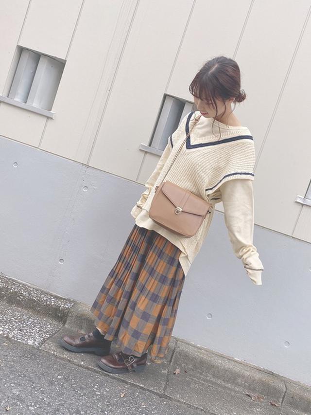画像: 【DOUBLE NAME】オリジナルチェックプリーツスカート¥6,050(税込み) 出典:WEAR