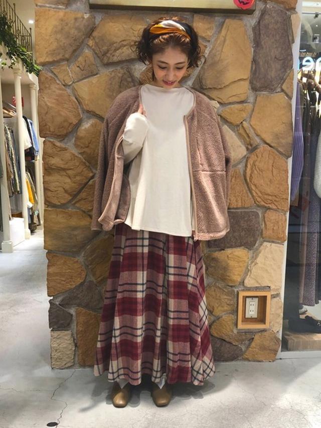 画像: 【Lugnoncure】チェックフレアスカート¥5,500(税込み) 出典:WEAR