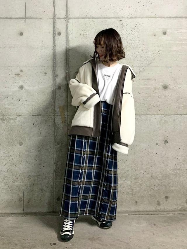 画像: 【PAGEBOY】モールチェックスカート¥6,490(税込み) 出典:WEAR