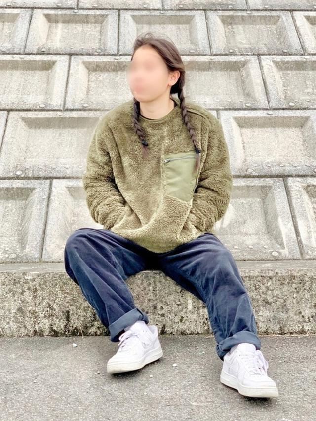 画像: 【GU】コーデュロイシェフパンツ¥1,859(税込)【UNIQLO】カットソー¥2,189(税込)【NIKE】スニーカー¥11,000(税込) 出典:WEAR