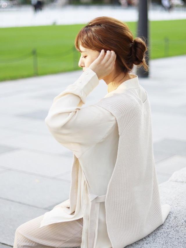 画像: 【参考商品】ニットベスト¥2,183(税込)【and Me】パンツ¥1,990(税込) 出典:WEAR