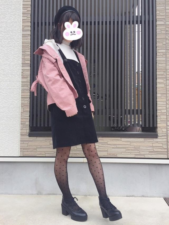 画像: 【WEGO】タイツ¥649(税込)ベレー帽¥2,189(税込)【GRL】ニット¥1,629(税込)【PAGEBOY】パンプス¥7,040(税込) 出典:WEAR