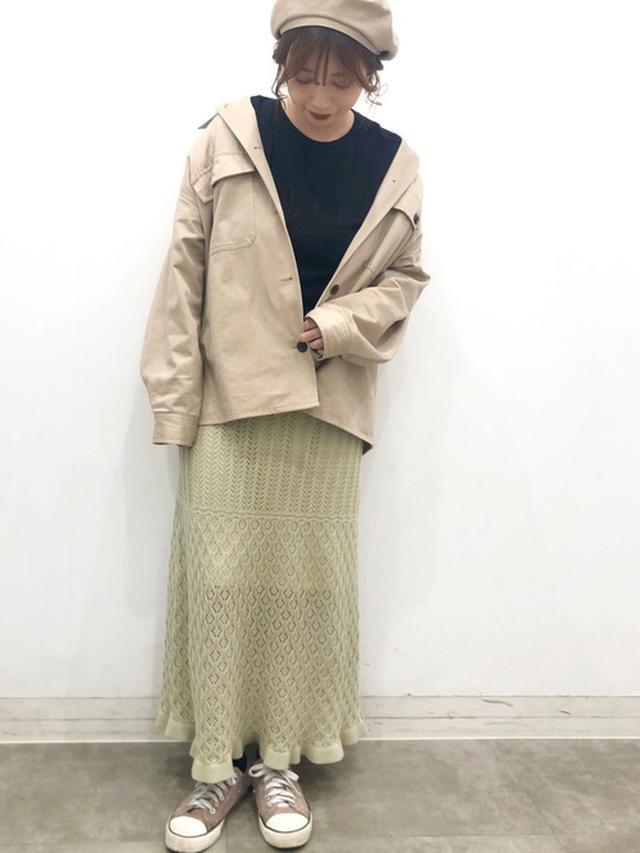 画像: 【GU】cpoジャケット ハンチング帽 鍵編みレーススカート 出典:WEAR
