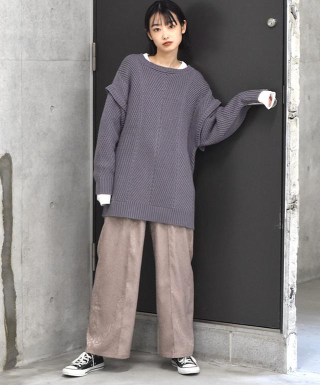画像: 【Alley】ヘリンボーン柄ニットプルオーバー¥6,490(税込)【参考商品】パンツ、スニーカー WEAR