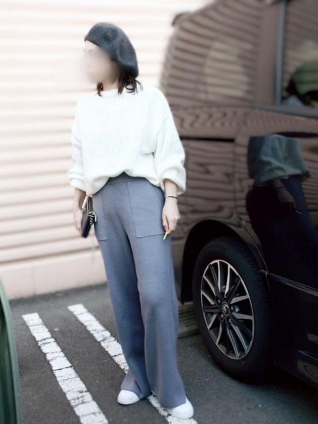 画像: 【H&M】ニット¥2,499(税込)【参考商品】パンツ¥2,999(税込) 出典:WEAR