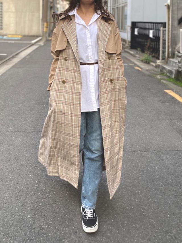 画像: 【Am_Chic】トレンチコート平均価格¥9,000~ シャツ平均価格¥3,000~ ベルト平均価格¥3,000~ 出典:WEAR