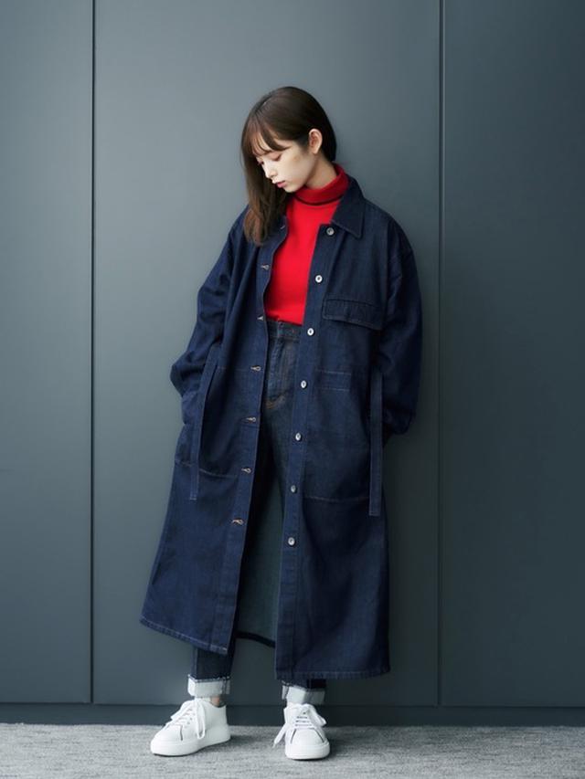 画像: 【ユニクロ】ニット平均価格 ¥2,000~ コート平均価格 ¥5,000~ 【PUBLIC TOKYO】ピンタックデニムパンツ ¥14,300(税込) 出典:WEAR