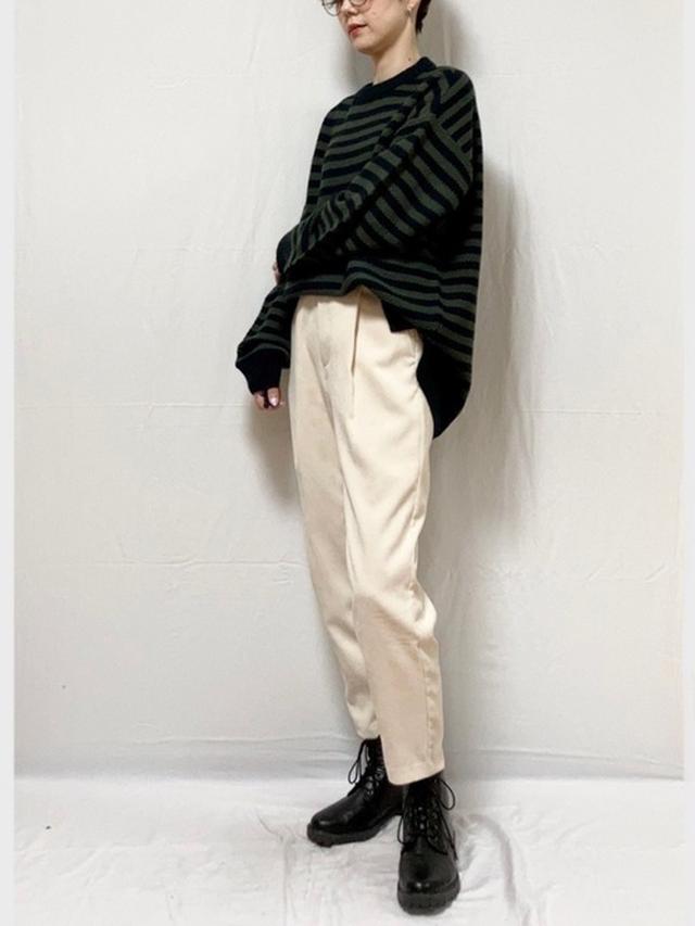 画像: 【GU】ニット¥1,089(税込)パンツ平均価格¥1,500~ブーツ平均価格¥2,000~ 出典:WEAR