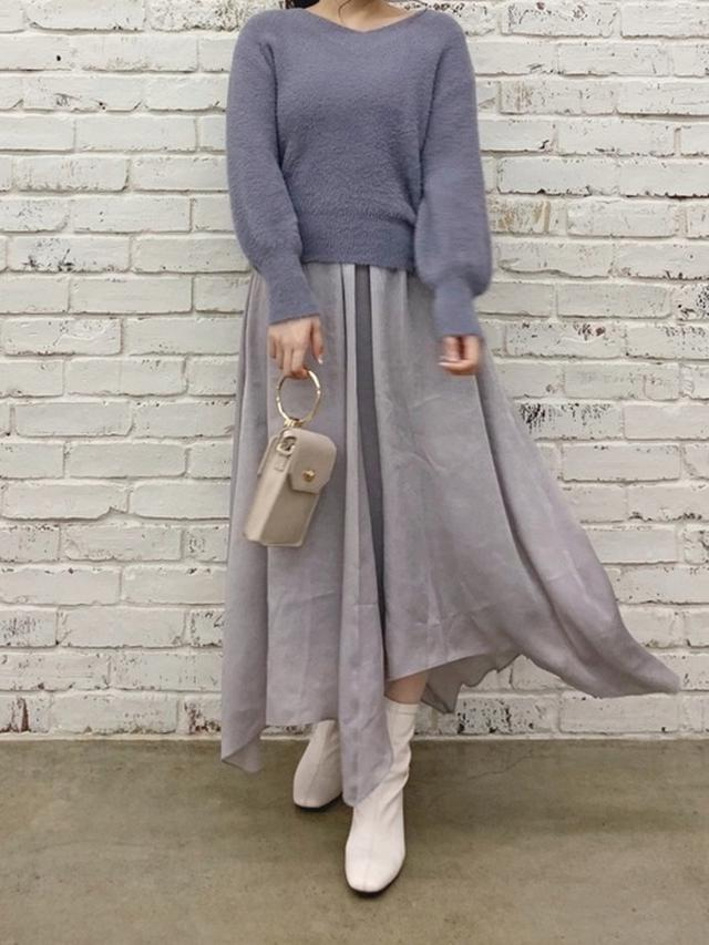画像: 【natural couture】セットアップ¥6,490(税込)バッグ¥3,003(税込)ブーツ¥5,390(税込) 出典:WEAR