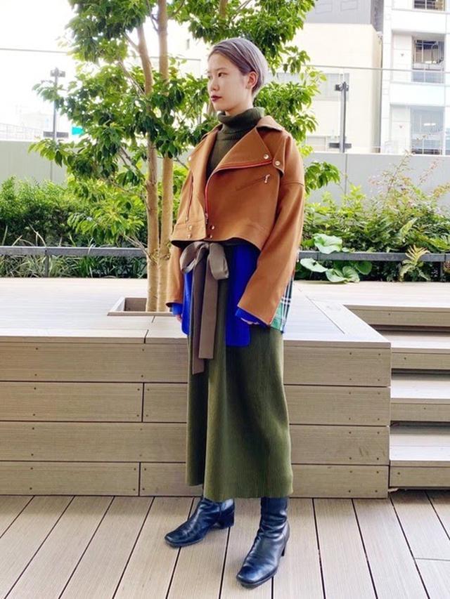 画像: 【PAMEO POSE】Layered Knit Dress ¥31,900(税込) 出典:WEAR