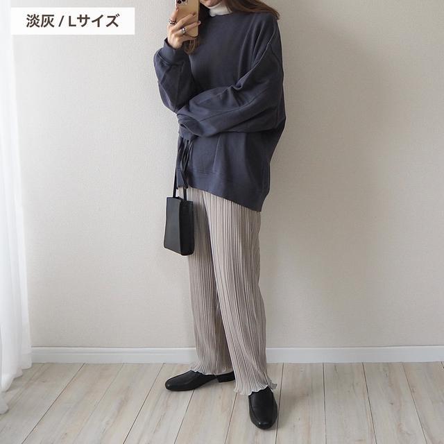 画像7: 【しまむら】新色登場!選びきれず3色購入したプリーツパンツ。【全色コーデ】