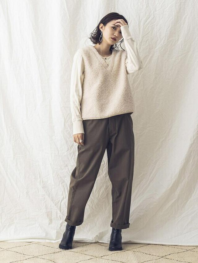 画像: 【khakito】ベスト¥12,980(税込)パンツ¥9,790(税込)【参考商品】トップス ブーツ 出典:WEAR