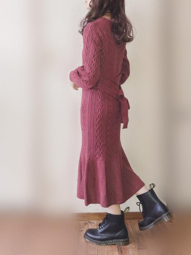 画像: 【MIIA】ワンピ¥9,988(税込)【Dr.Martens】ブーツ¥26,400(税込) 出典:WEAR