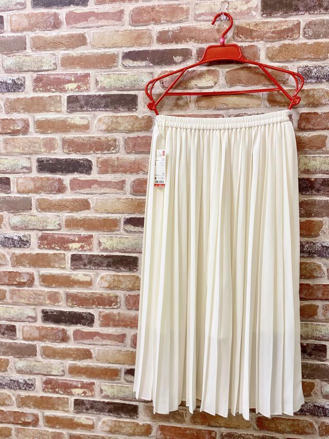 画像1: 【ユニクロ】えっ!まさかの990円?超高見え♡「プリーツスカート」でコーデしてみた