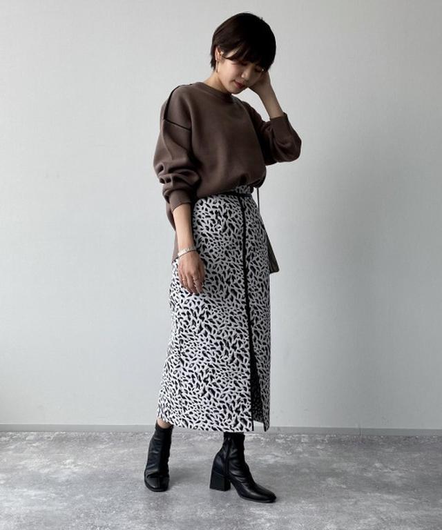 画像: 【PAGEBOY】レオパードスカート¥6,490(税込) 出典:ZOZOTOWN
