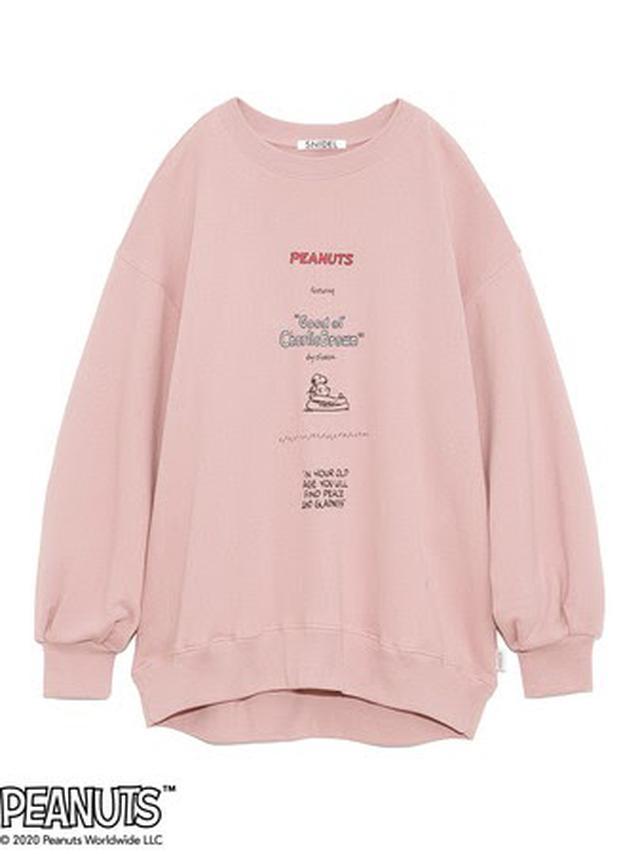 画像: SNOOPYスウェット ¥9,000(税抜) Free size Off white,Pink,Black