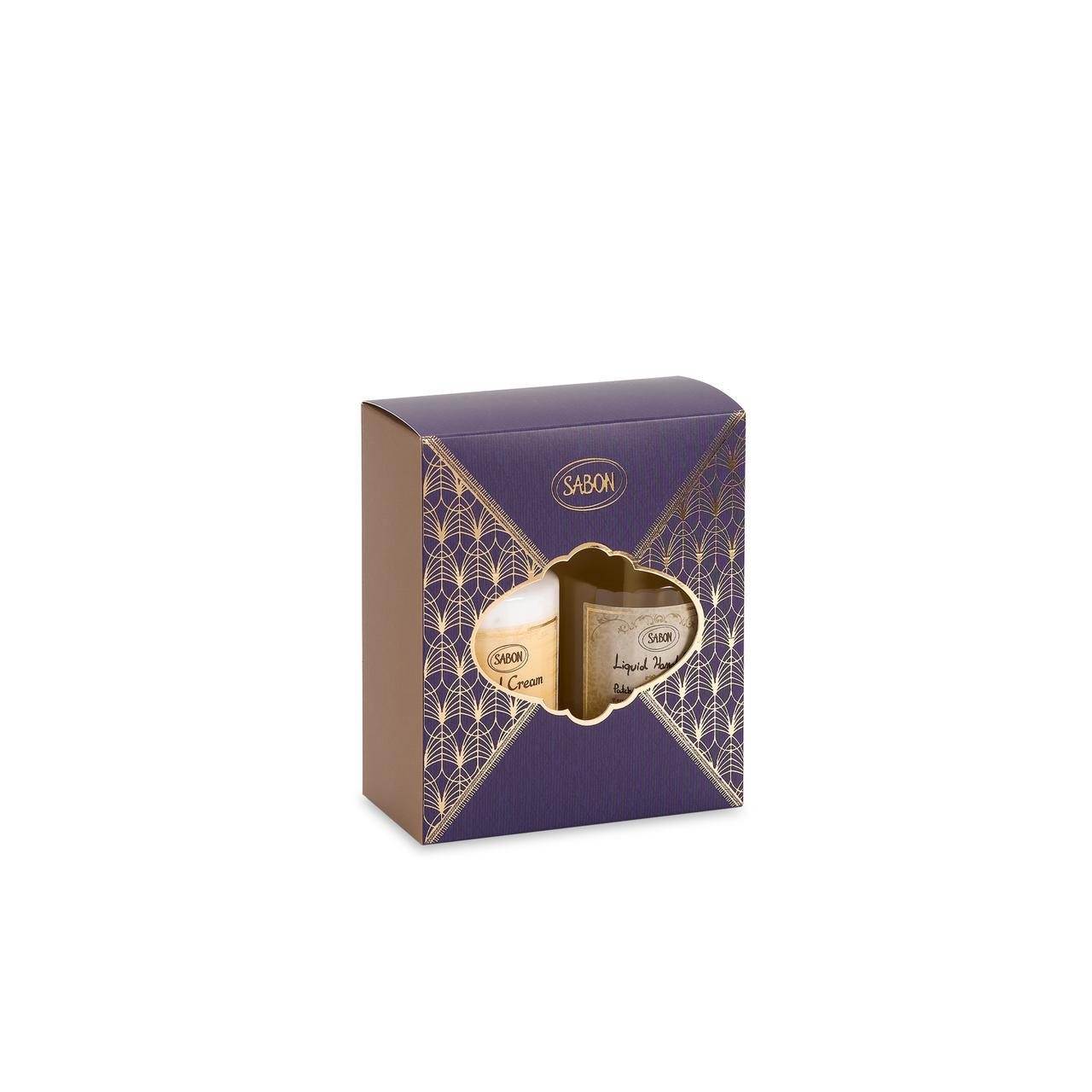 画像: 「ハンドケア デュオ」¥4,730(税込)<内容は右から> 内容:「ハンドソープ」200mL 「ハンドクリーム」200mL「ボックス」香りはパチュリ・ラベンダー・バニラ/デリケート・ジャスミン/グリーン・ローズの3種から選んで