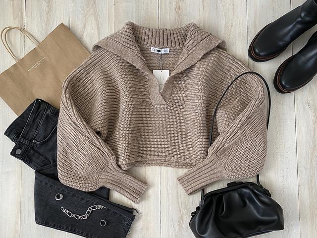 画像1: ついに【ZARA】デビュー!SNSでバズり中のセーターをGET。【コーデ】