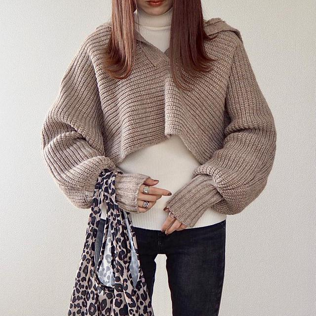 画像: natsumiwear / ZARA(ザラ)の「クロップド丈ニットセーター」をあわせたコーディネート - PARTE
