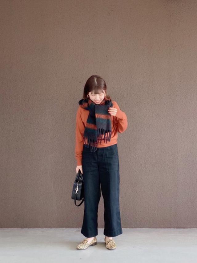 画像: 【UNIQLO】マフラー¥1,650(税込)【参考商品】ニット パンツ シューズ バッグ 出典:WEAR
