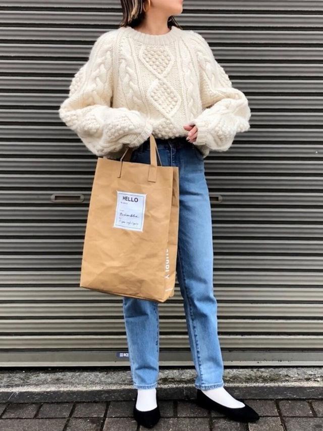 画像: 【古着】ニット【ZOZO】デニムパンツ¥3,870(税込)【GU】靴 参考価格¥1,000~ 出典:WEAR