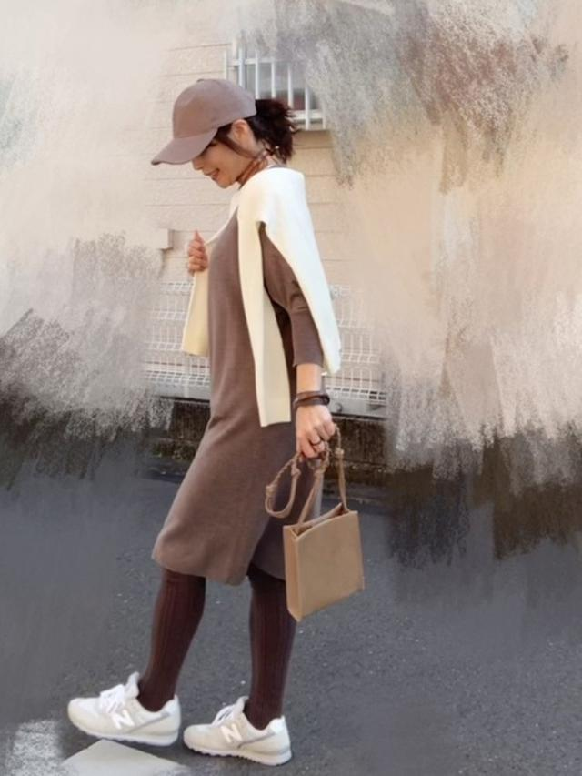 画像: 【PLST】ニット平均価格¥7,000~【fredy emue】ワンピース【New Balance】靴¥10,890(税込) 出典:WEAR