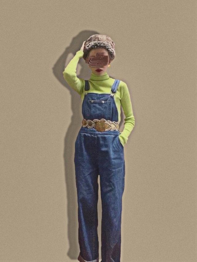 画像: 【jouetie】ニット¥4,290(税込)【SPINNS】サロペット平均価格¥¥6,000~【merlot】帽子¥2,750(税込) 出典:WEAR