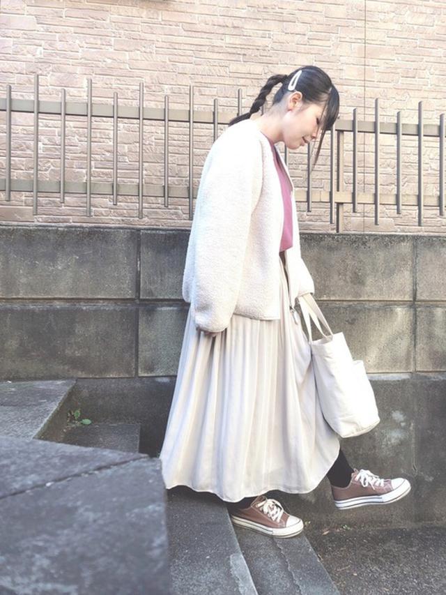 画像: 【UNIQLO】フリース¥3,289(税込)スウェット平均価格¥3,000~ スカート平均価格¥3,000~ 出典:WEAR