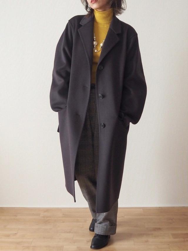 画像: 【UNIQLO】コート¥25,190(税込)ニット平均価格¥3,000~【参考商品】パンツ シューズ 出典:WEAR
