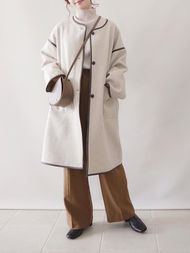 画像: 【RETRO GIRL】アウター ¥5,390(税込)【GRL】ニット¥2,036(税込)【GRL】パンツ¥2,036(税込)【GRL】バッグ ¥915(税込)【GRL】ブーツ ¥2,138(税込) 出典:WEAR