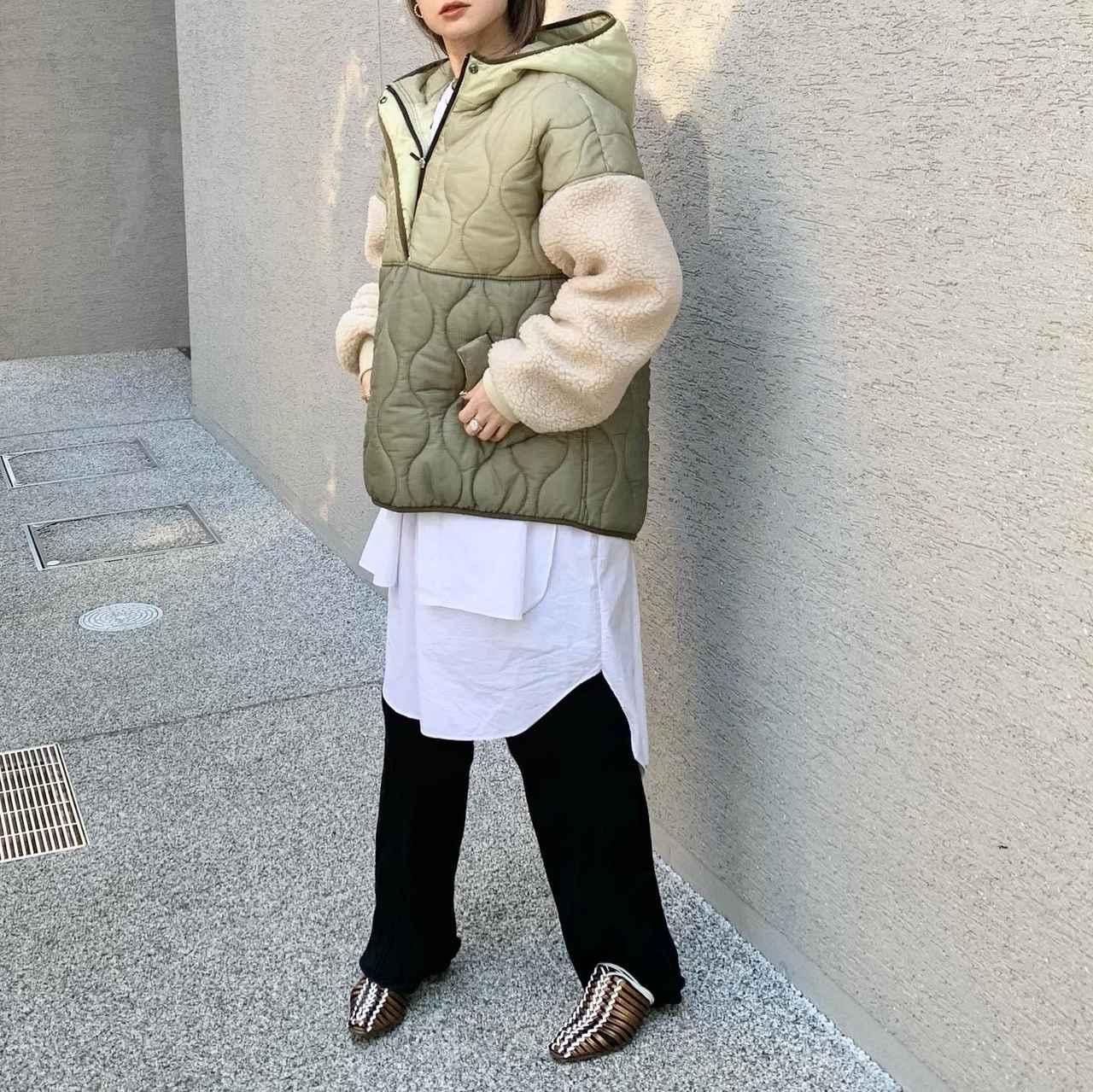 画像1: 【冬はマスト!】 ショート丈のキルティングアウターの着こなし★