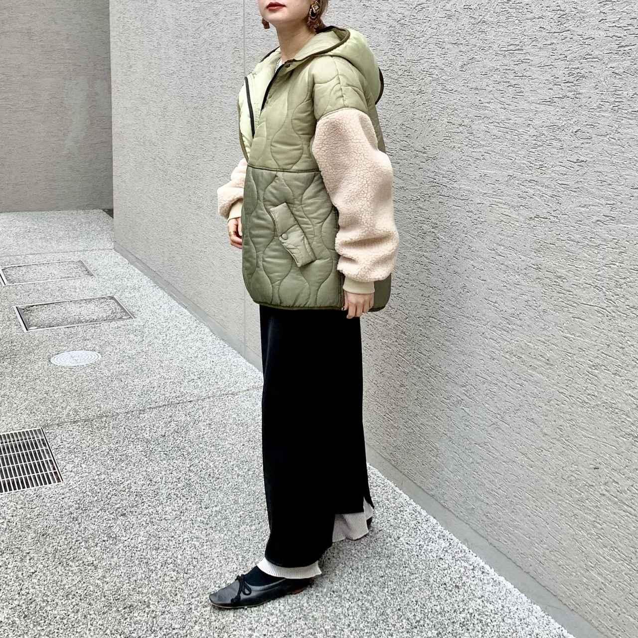 画像2: 【冬はマスト!】 ショート丈のキルティングアウターの着こなし★