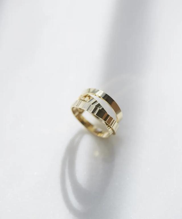 画像: 【ACO vintage】pressed free ring(GOLD・フリーサイズ) ¥4,000(税込)