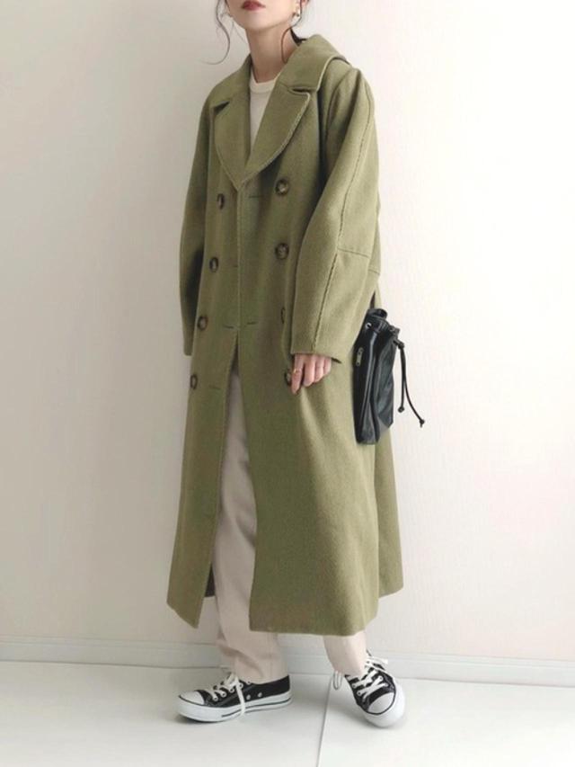 画像: 【MURUA】ヘリンボーンダブルコート ¥16,390(税込) 出典:WEAR