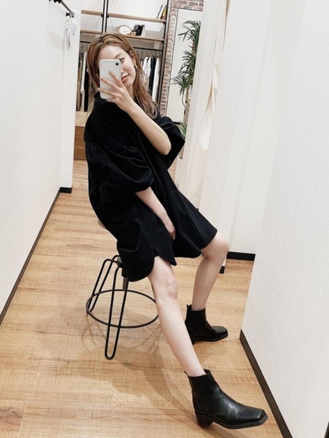 画像: 【Ungrid】ブーツ¥15,400(税込)ワンピース参考価格¥15,000~ 出典:ZOZOTOWN