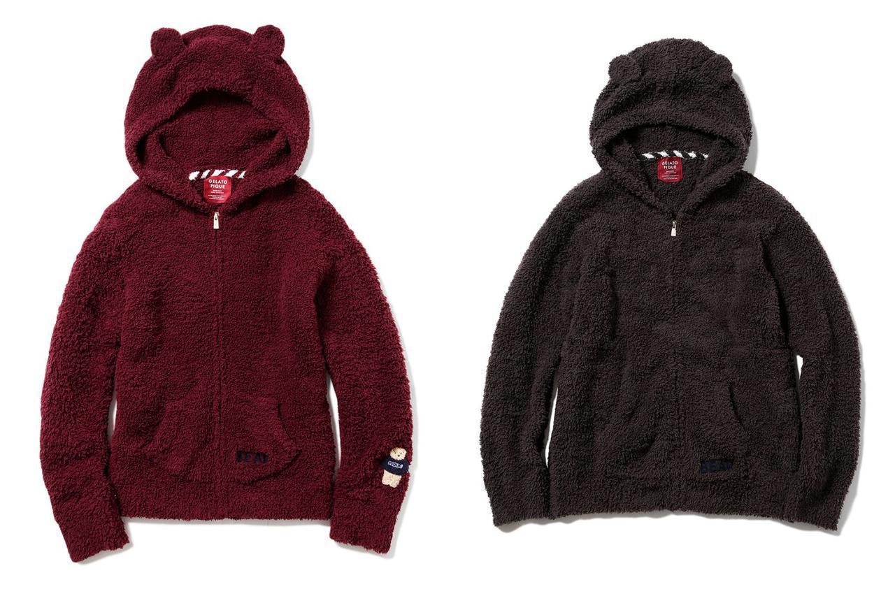 画像: (左から)'ジェラート'ベアパーカ7480円、HOMME 'ジェラート'ベアパーカー7920円