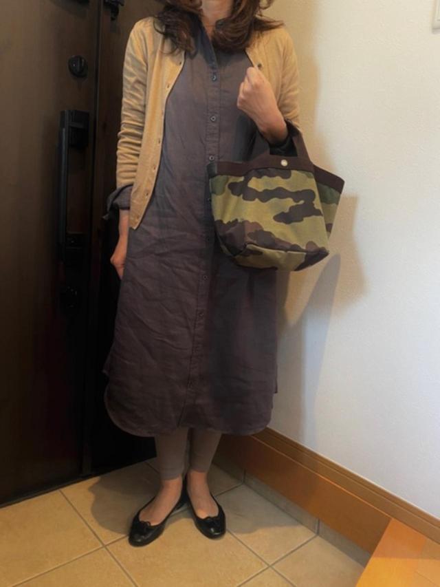 画像: 【無印良品】ワンピース平均価格¥4,000~【参考商品】カーディガン バッグ レギンス 靴 出典:WEAR