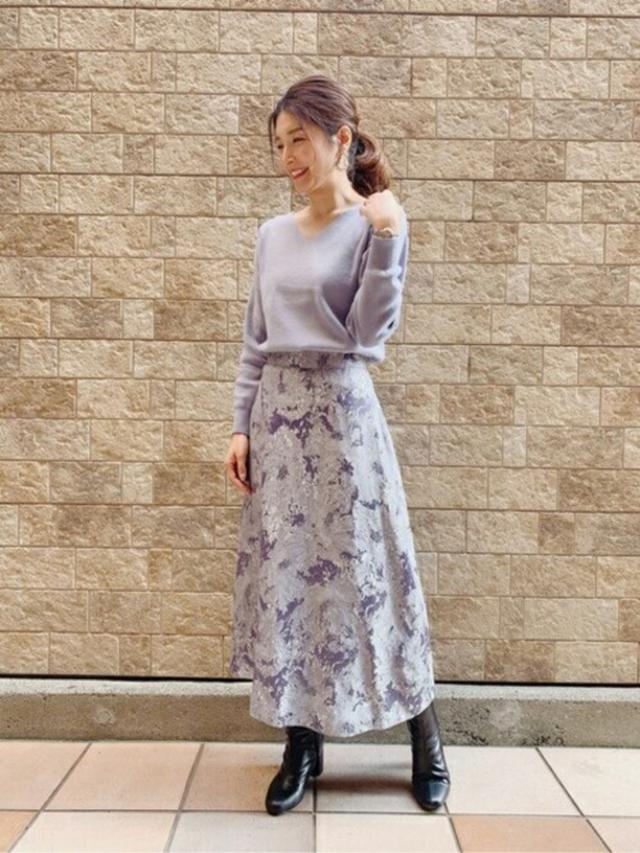 画像: 【PROPORTION BODY DRESSING】ニット¥7,040(税込)【PROPORTION BODY DRESSING】スカート¥10,230(税込) 出典:WEAR
