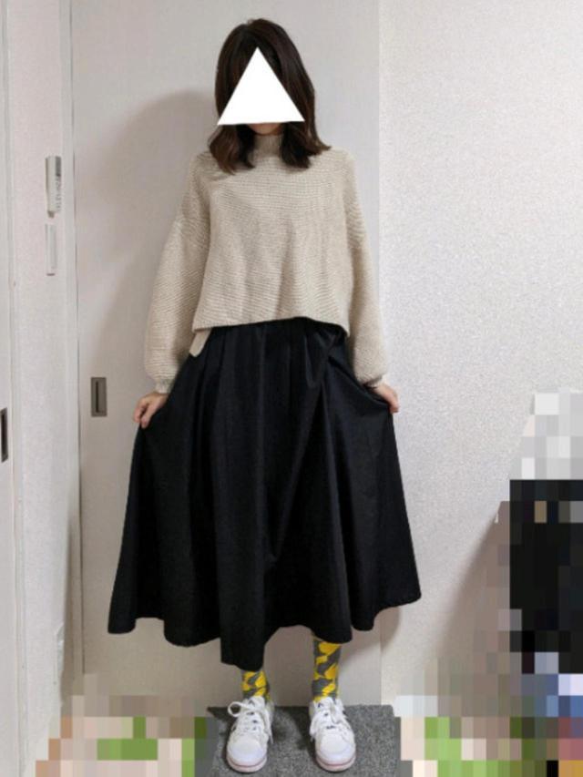 画像: 【merlot】ニット¥3,035(税込)【coca】スカート¥2,189(税込) 出典:WEAR
