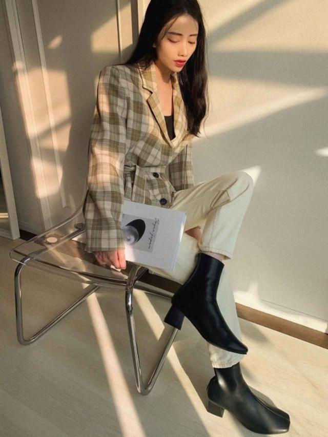 画像: 【参考商品】テーラードジャケット パンツ 【NOFALL】ブーツ¥5,000(税込) 出典:WEAR