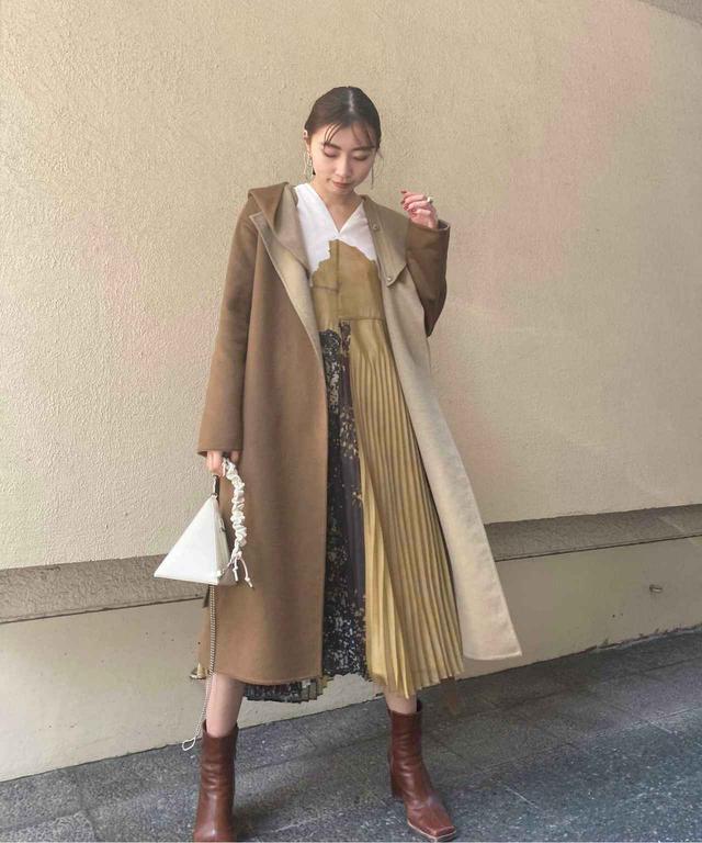 画像: 【AMERI】コート ¥23,000(税込)【参考商品】ワンピース バッグ ブーツ 出典:ZOZOTOWN