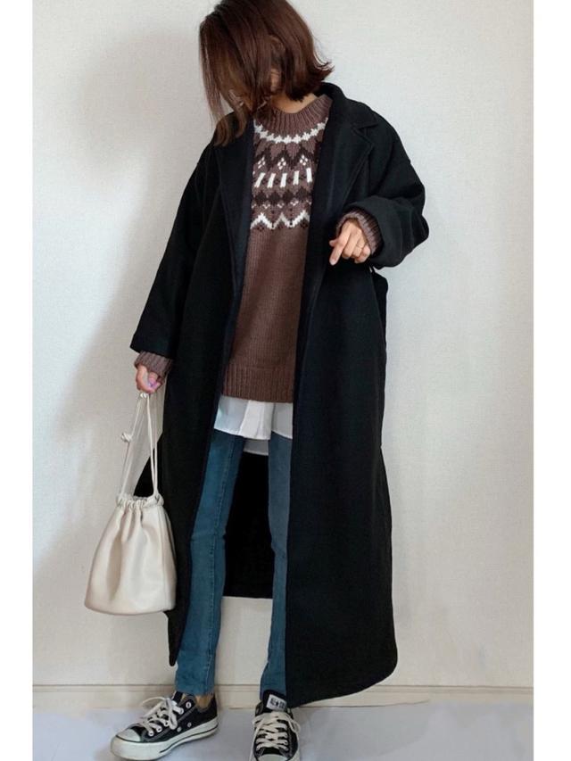 画像: 【GU】セーター平均価格¥2,189~パンツ平均価格¥1,089~【GRL】コート平均価格¥3,156~ 出典:WEAR