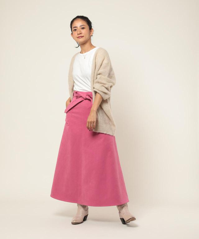 画像: 【Freada】フェイクスエードラップスカート¥20,350(税込) 出典:ZOZOTOWN