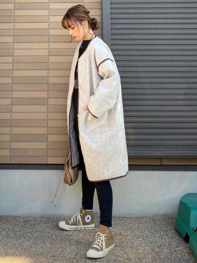画像: 【RETORO GIRL】アウター¥5,390(税込)【niko and...】バッグ¥1,650(税込) 出典:WEAR