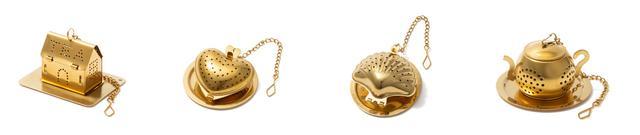 画像: 「ティーストレーナーシリーズ」各¥800(税込)<左から>ハウス、ハート、シェル、ポット 出典:Francfranc