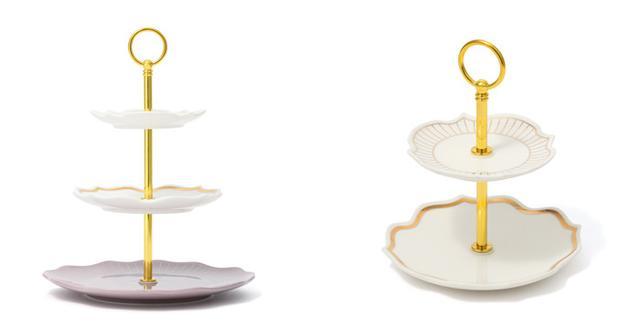 画像: 「ラフィネシリーズ」<左から>スタンド3段¥2,500、スタンド2段 ¥1,500(ともに税込) 出典:Francfranc
