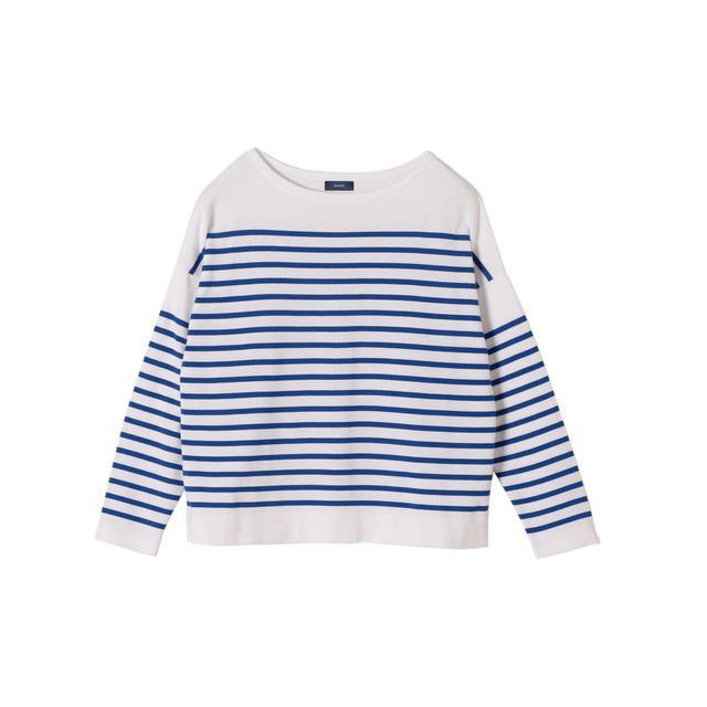 画像: 【SHIPS WOMEN】ボートネックプルオーバー¥9,900(税込) 出典:fashion trend news
