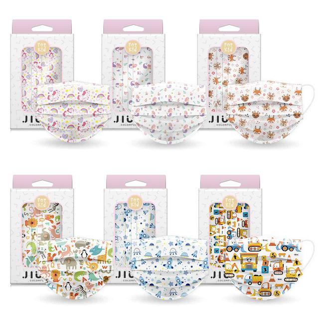 画像: マスク(10枚入り) 各¥1048(税込)※今回の発売は上段右、下段中央、下段右の3種のみ 出典:JIUJIU