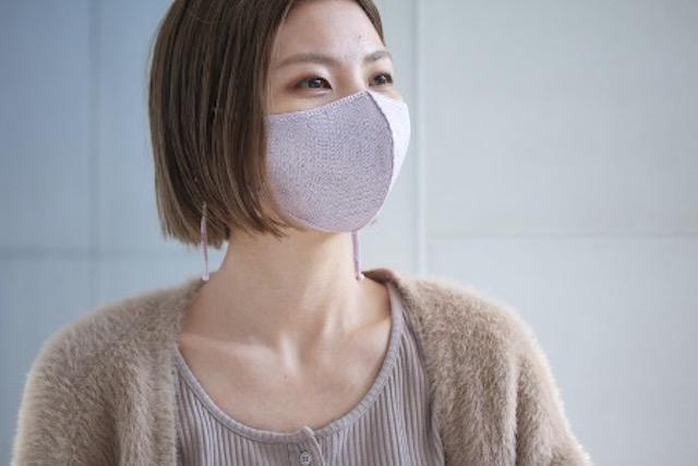 画像: シルク・フェイス・マスク(ラベンダー)¥3,850(税込)