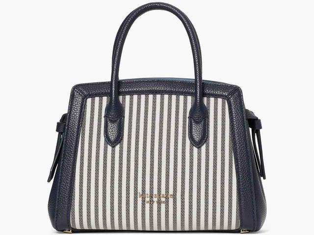 画像: 「knott stripe mini satchel」[縦16×横21.5×マチ9cm]¥46,200 出典:ケイト・スペード ニューヨーク